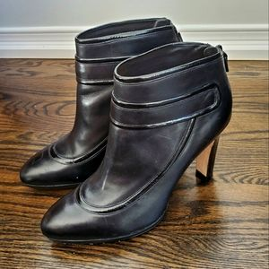 Cole Haan Nike Air Collab Black Leather Booties Size 8